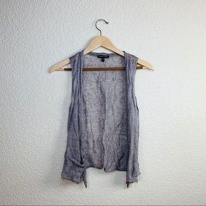 ✨Eileen Fisher linen blend vest